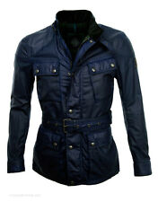 Belstaff GSR Men's Woodcote 4-Pocket Belted Jacket – Faded Blu Navy - 21050001