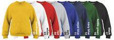 School Uniform Sweatshirts Age 3 5 7 8 12 yrs Black Red Yellow White Grey jumper