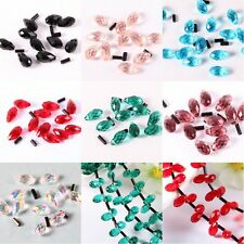 20/140pcs Glass Waterdrop Spacer beads DIY Jewelry Making Charms New  5*10mm