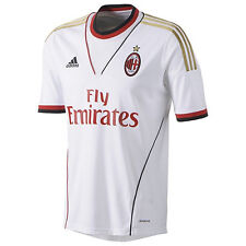 adidas AC Milan - Italy 2013 - 2014 Away Soccer Jersey Brand New White / Gold