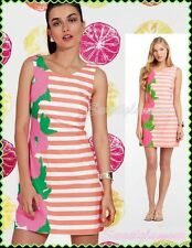 $188 Lilly Pulitzer Delia Sunrise Orange Wild Flowers Shift Dress