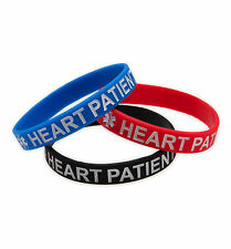Blood Thinner / Heart Patient Silicone Medical Bracelets - Lot of 3