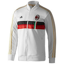 adidas AC Milan 2013 - 2014 Soccer Track Jacket White / Red / Gold Brand New