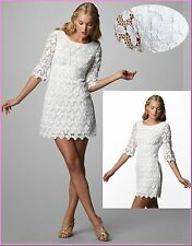 NWT$368 Lilly Pulitzer 92004 Shayna Classic White Papillon Butterfly Lace Dress