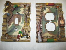 NEW-Mallard Duck Switch Plate Cover Or Gun-Camo Outlet Covers-3D Look-Cabin-Hunt
