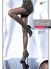 Fiore Nelly Satin Gloss Tights 60 Denier Semi Opaque Black Jeans Violet Grey Tan