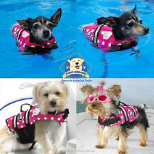 PAWS ABOARD Dog Life Jacket Vest PINK POLKA DOTS X-Small 6-15 lb XS BRAND NEW