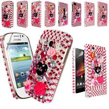BARBIE DIAMOND FLOWER GEMSTONE CASE COVER FOR VARIOUS MOBILE PHONE+SCREEN FILM
