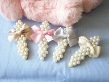 3 Pcs Fashion Lovely Pearl Bowknot Hair Clamp Bridesmate Wedding Party 3 Colors