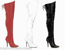 Legend 8899 Leather Thigh High Single Sole Crotch Boots Sizes 6 - 16