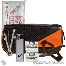 SET Pipes: Poche Pipes, Blague à tabac, Cure pipes,  Filtre 9mm, Porte Pipe, Kit