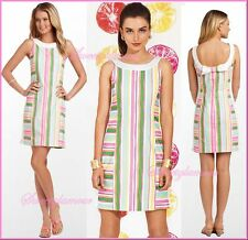 $178 Lilly Pulitzer 51935 Darcy Multi Spicy Stripe Flourescent Shift Dress