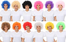 ADULTS AFRO WIG 60'S 70'S DISCO HIPPY FANCY DRESS CLOWN HAIR 6 COLOURS TO CHOOSE