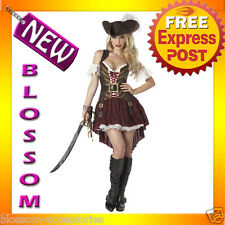 C624 Sexy Swashbuckler Pirate Wench Halloween Fancy Dress Adult Costume