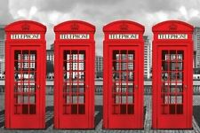 New The Big Red Four Iconic London Phoneboxes Poster
