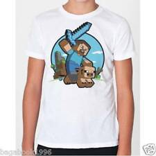 Minecraft Pig Riding Boy's Tee Tshirt T-shirt ( New )