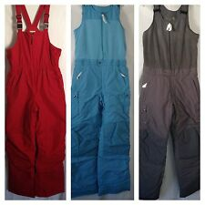 Lands End Bib Overall Snow Pants Boys Girls 16 18 20 Blue Red Gray