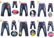 New Kids Girls Boys Disney For Jeans Pants Trousers Age 2-9Yrs