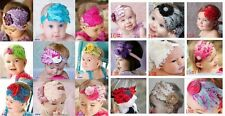 18 color  cute Infant Baby Headband mix style Bow feather FASCINATOR SATIN