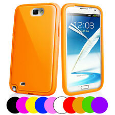Soft Silicone Case Cover For Samsung N7100 Galaxy Note II + Screen Protector