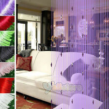 Fashion Decorative String Curtain With 3 Beads Door Window Panel Room Divider