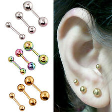 2pc 316L Surgical Steel Dumbbell Small Stud Earring Tragus Cartilage EH0248