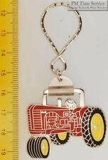 Sturdy key chain with a fancy silver-toned Massey Harris 44 tractor shield