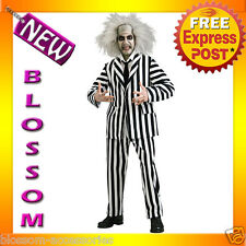 C800 Mens Licensed Beetlejuice Grand Heritage Scary Halloween Adult Costume