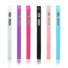 Soft Candy TPU Bumper Frame Ultra Clear Hard PC Back Cover Case for iPhone 5 5S