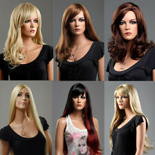 Ladies Long Blonde Wig Red Black Brown Wig Many Choice of Style and Colour