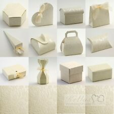 Diamante Ivory Wedding Favour Boxes