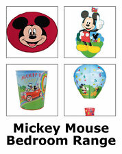 Mickey Mouse Bedroom Item Range - Bedding Curtains Canvas Arts Lighting & More