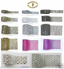 RHINESTONE DIAMANTE effect BLING REEL RIBBON WRAP TRIM CAKE BRIDAL DRESS MAKING