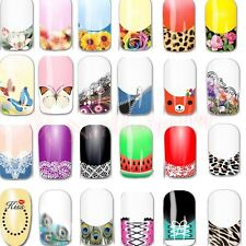 3D Nail Art Foil Decals Water Transfer Nail Sticker Set Flower Leopard 25 Design