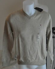 Tommy HOMME PULL NEUF 100% Coton BEIGE COLV tailles S, M, L, XL, XXL 2014