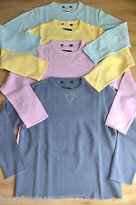 Boden ladies cotton sweatshirt / jumper pink blue or yellow sizes S - XL 10 - 18