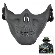 Skull Army Airsoft Paintball BB Gun Half Face Game Protect Mask US Seller