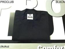 1 NEW PROCLUB HEAVY WEIGHT T-SHIRT BLACK PLAIN PRO CLUB BLANK BIG 10XL 1PC