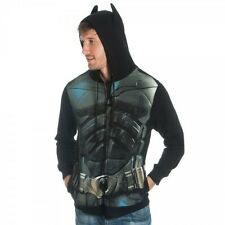 AUTHENTIC BATMAN DARK KNIGHT SUIT UP SUPERHERO HOODIE SWEAT SHIRT S-2XL