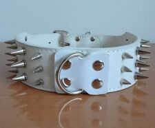 Spiked Studded Leather Pet Dog Collar Large Breed Pitbull Mastiff Terrier Bully