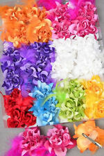 PICK 1 ROSE HAIR BOW clip GLITTER feather CHRISTMAS wedding BRIDAL prom PAGEANT