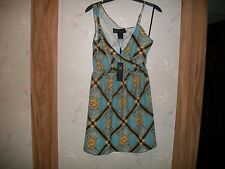 Kim Kardashian Kollection Chain Print Georgette Dress. SIZE S. M, L & XL NWT