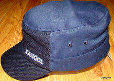 Navy Blue  Kangol  Textured  Wool  Flexfit  Army  Cap
