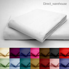 Polycotton Percale FLAT Bed Sheet in Single, Double, King, Superking