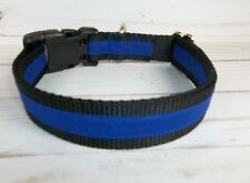 Thin Blue Line Dog Collar custom hand made adjustable fabric Serving Pride