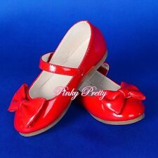 Bow Mary Janes Shoes Sz UK 5.5-12 EU 22.5-30 Wedding Flower Girl Bridesmaid 011