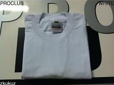 12 NEW PROCLUB HEAVY WEIGHT T-SHIRT WHITE PLAIN PRO CLUB BLANK 4XL-7XL 12PC