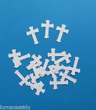 A+ 24 Small Cross Die-Cuts Baby Christening Communion Religious Wedding Cards