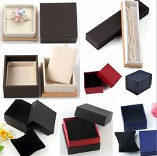Soft Sponge Gift Present Box Jewelry Storage Watch Ring Necklace Display 9 Style