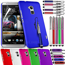 HARD BACK SKIN CASE COVER, LCD FILM & 3 STYLUS PEN SET FOR HTC ONE MAX